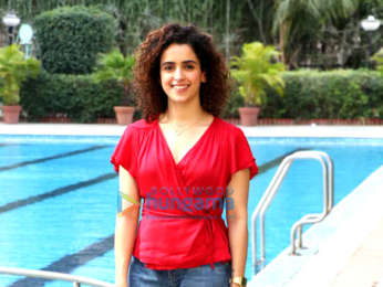 Sanya Malhotra snapped at the promotions of her film Photograph