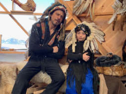 Shah Rukh Khan and AbRam Khan bring out their swag in war bonnets
