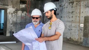 Shahid Kapoor shares an adorable picture with papa Pankaj Kapoor as they are candidly captured in his under-construction flat