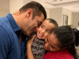 This moment between Salman Khan, nephew Ahil Sharma and sister Arpita Khan Sharma is too PRECIOUS