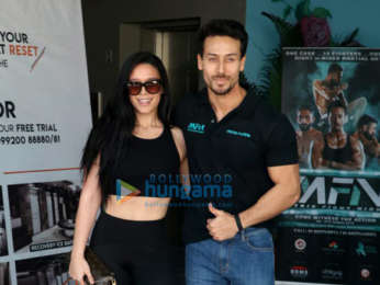 Tiger Shroff and Krishna Shroff promote Matrix Fight Night at MMA Matrix in Bandra
