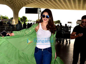 Urvashi Rautela, Raai Laxmi and Maniesh Paul snapped at the airport
