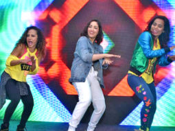 Yami Gautam and International Zumba Icon Gina Grant Dancing Together at Promotional Event