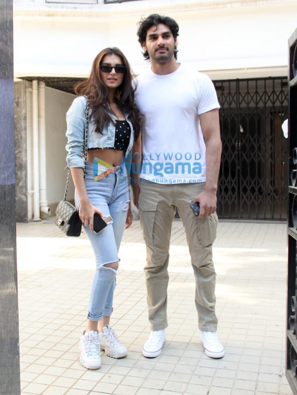 Ahan Shetty and Tara Sutaria spotted in Bandra