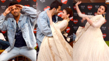Alia Bhatt & Varun Dhawan CRAZY Dance Performance at Radio Station Madhuri Dixit KALANK Aditya Roy Kapur