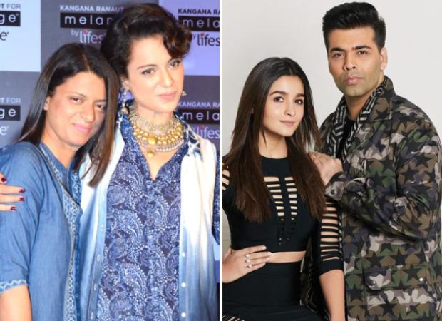 Kangana Ranaut's sister Rangoli Chandel BLASTS Alia Bhatt again, says she pleads for roles with help of Karan Johar