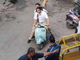 LEAKED PHOTOS! Kartik Aaryan sports a school uniform and clean shaven look for Love Aaj Kal 2 in Udaipur