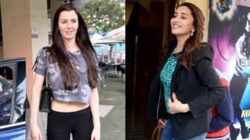 Madhuri Dixit & Arbaaz Khan GF Giorgia Andriana SPOTTED at PVR Juhu