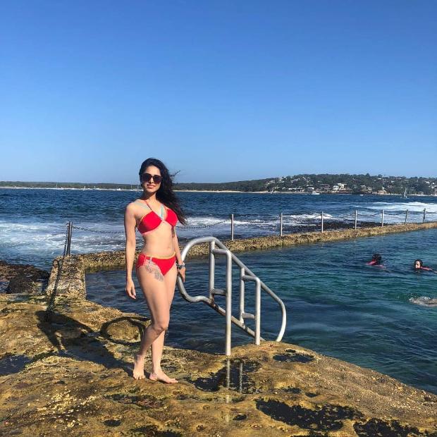 Nushrat Bharucha sizzles in the red bikini during her Australian vacation