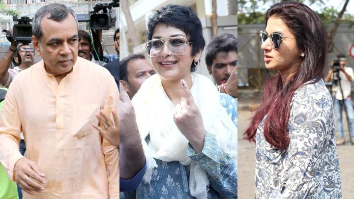 Paresh Rawal, Sonali Bendre, Bhagyashree cast their VOTE for Lok Sabha Elections