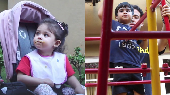SPOTTED Tusshar Kapoor with son and Innaya Khemu at Khar