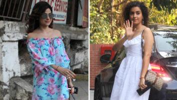 Sanya Malhotra & Shamita Shetty SPOTTED at Juhu