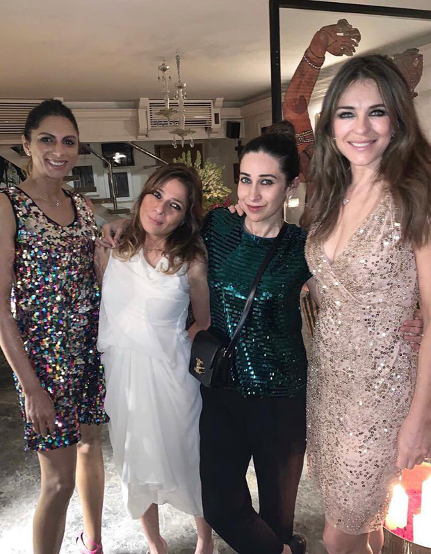 Karisma Kapoor parties the night away with Elizabeth Hurley [see photo]