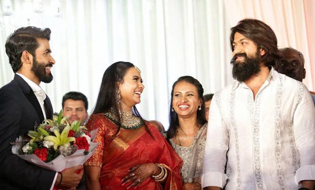 KGF star Yash, Chiranjeevi, Puneeth Rajkumar and others attend Yuva Rajkumar's wedding with Sridevi