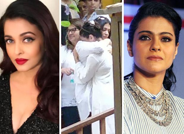 Aishwarya Rai Bachchan CONSOLES Kajol after she breaks down during father-in-law Veeru Devgan's funeral