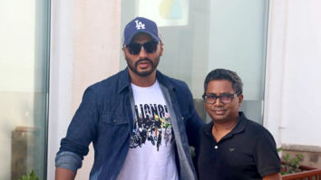Arjun Kapoor snapped promoting his film India's Most Wanted