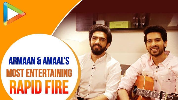 Armaan Malik & Amaal Malik's DHAMAKEDAR Rapid Fire On SRK, A.R.Rahman, Arijit Singh Chale Aana