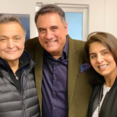 Boman Irani meets Rishi Kapoor and Neetu Kapoor in New York