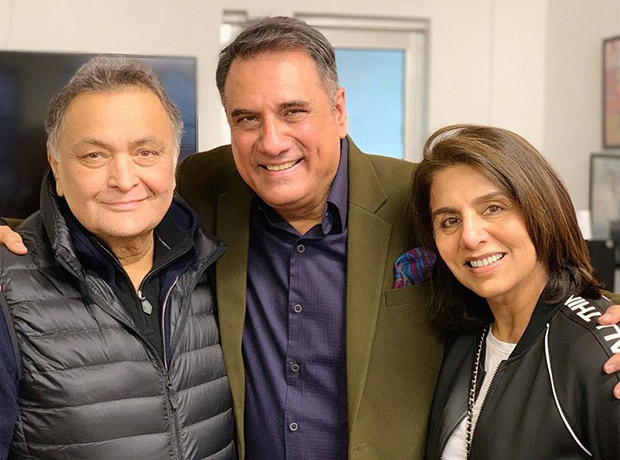 Boman Irani meets Rishi Kapoor and Neetu Kapoor in New York