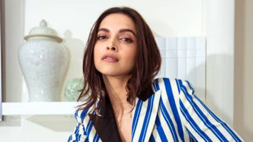 Cannes 2019 Day 2 Deepika Padukone looks aesthetically stunning in the striped pant-suit