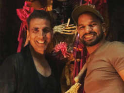 Housefull 4: Akshay Kumar receives a surprise visit from cricketer Shikhar Dhawan