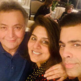 Karan Johar meets his FAVORITE couple of Indian cinema, Rishi and Neetu Kapoor, and their picture is all things love!