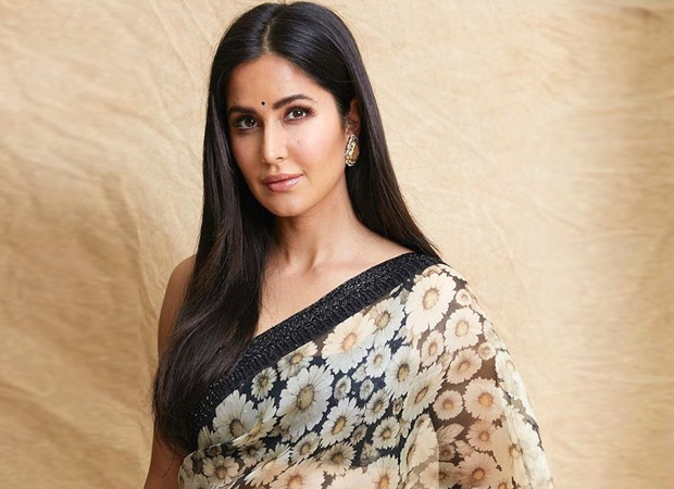 Katrina Kaif is bringing the summer vibes with a floral printed saree by Sabyasachi for Bharat promotions