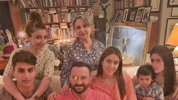 Pataudis Assemble! Sharmila Tagore, Saif Ali Khan, Kareena Kapoor Khan, Soha Ali Khan along with Sara Ali Khan, Ibrahim and Taimur strike a pose