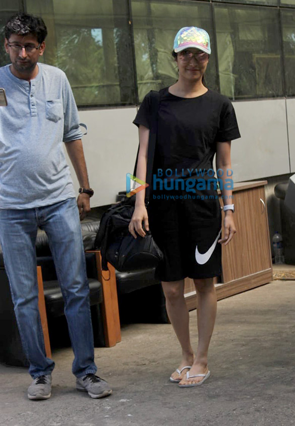 Shraddha Kapoor spotted at a dance class in Andheri