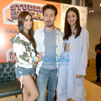 Tiger Shroff, Tara Sutaria and Ananya Panday grace the press conference of 'Student Of The Year 2'