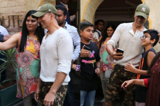 WATCH Akshay Kumar Sweet Gesture towards Fan at Bayroute cafe in Juhu