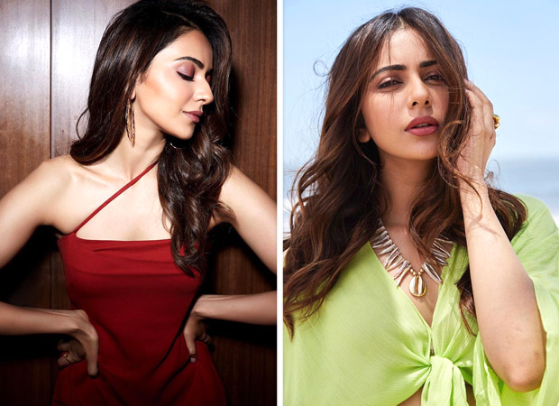 What's Your Pick Rakul Preet Singh in a cherry red Michelle Mason or light green Since 1988
