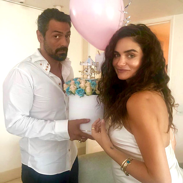 PICS: Arjun Rampal hosts a baby shower for girlfriend Gabrielle Demetriades
