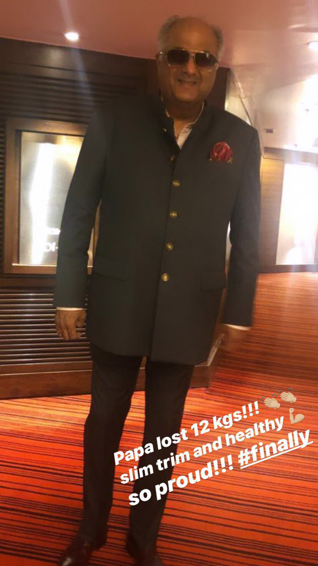 Janhvi Kapoor hails her father's weight loss; dedicates a post to Boney Kapoor