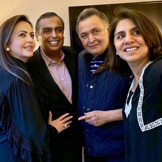 Ambanis visit Rishi Kapoor and Neetu Kapoor in the U.S.