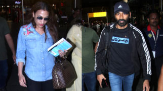 Dhanush spotted with wife Aishwarya Rajinikanth at Mumbai airport (2)