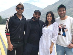PHOTO Janhvi Kapoor and Rajkummar Rao are happy souls on the sets of RoohiAfza