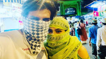 PHOTO Sara Ali Khan and Kartik Aaryan hide their faces during their visit to a mosque on Eid