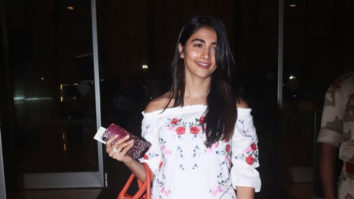 Pooja Hedge spotted at Mumbai Airport flying for shoot