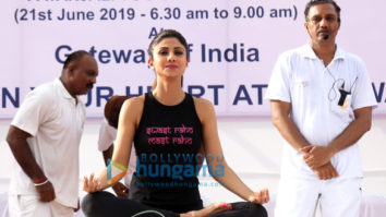 Photos: Shilpa Shetty snapped celebrating World Yoga Day at Gateway of India
