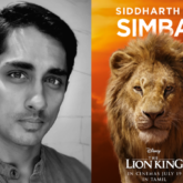 Siddharth is Simba in the Tamil version of The Lion King!