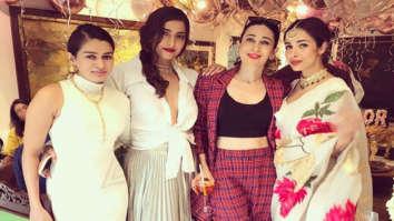 Sonam Kapoor Ahuja is all smiles as she poses with Karisma Kapoor and Malaika Arora on her birthday