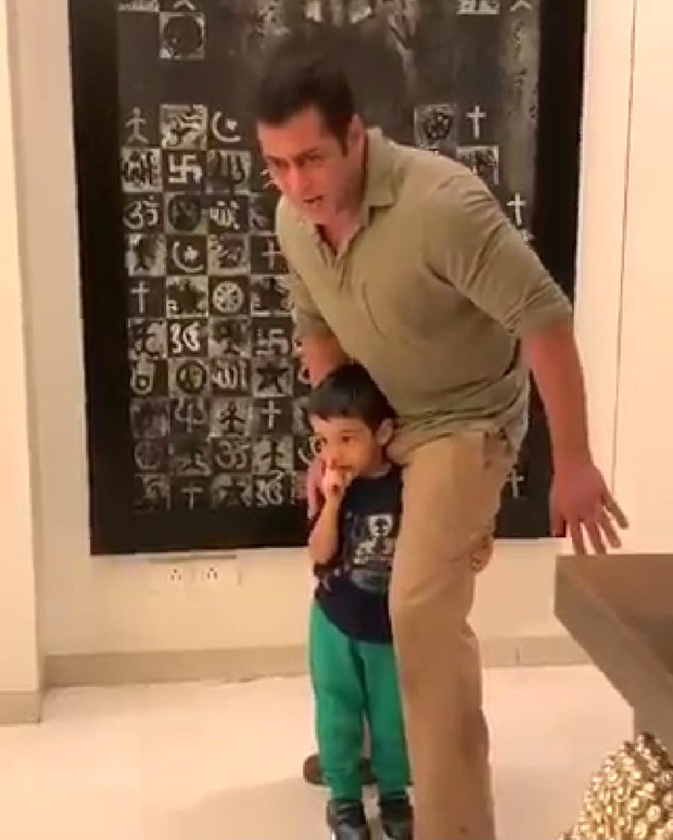WATCH VIDEO: Salman Khan gets goofy with nephew Ahil Sharma and it is adorable