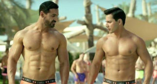 3 Years Of Dishoom: Varun Dhawan flaunts his ab-tastic body in this shirtless photo with John Abraham