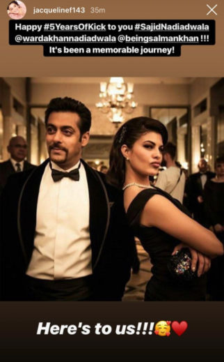 5 Years Of Kick: Salman Khan and Jacqueline Fernandez are all smiles in this unseen photo