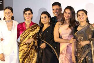 Akshay Kumar, Vidya Balan, Taapsee Pannu and Nithya Menon grace the trailer launch of their film Mission Mangal