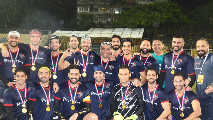 Bollywood Team vs Navy Stars-Football Match Highlights Ranbir KapoorArjun KapoorAbhishek BAparshakti K