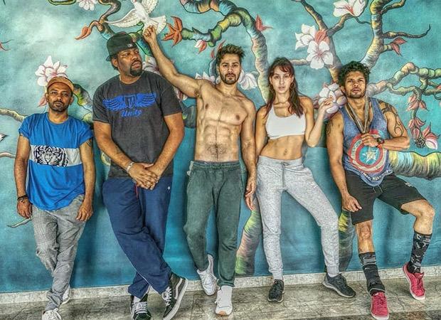 Despite the heavy rainfall, Varun Dhawan and Street Dancer 3D team keep the show going!