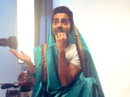 Dream Girl: Ayushmann Khurrana gives a twist to the #SareeTwitter trend with a glimpse of his quirky movie
