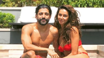 Farhan Akhtar and Shibani Dandekar soar the temperatures as they pose in the pool!